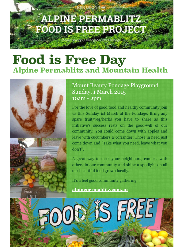 Food is Free Day 1 March